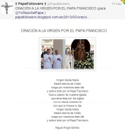 Oración por el Papa Francisco de Miguel Ángel Gomez_Papafollowers