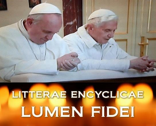 Enciclica Lumen Fidei_Papa Francisco y Benedicto XVI