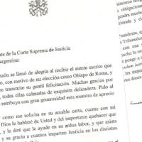 Escribir al Papa Francisco